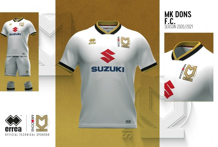 The Mk Dons home shirt: elegance and simplicity by Erreà Sport