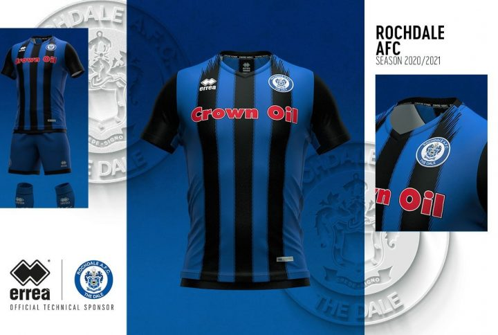 Tradition, modern, retro: the new official Rochdale A.F.C. 2020-2021 kits